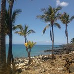 View of Maui from the beach and trail