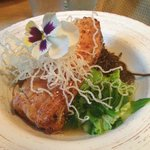 Creative, Asian spin on the Halibut over soba noodles. Memorable.