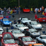 Just a few of the more than 500 Corvettes on Woodward Wednsday of cruise week