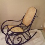 chair in the bedroom, although they placed the protection for tatami, it did not look bad