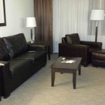 The living room area