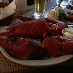 Lobster dinner, comes with unlimited chowder and mussels.