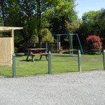 Playground and BBQ area