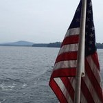 Lake Champlain from stern of the 'ESCAPE'