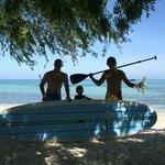snorkelling en paddle....