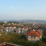 cluj in the morning. view from 5th floor.