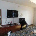 Nice big wall mounted flat screen TV