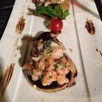 foie gras poilé au tartare de saumon