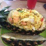 pineapple seafood fries rice