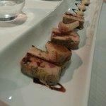 Marbré de foie fras au figue, toast chaud et compote de grammy