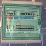 Il quadro elettrico generale in bagno