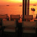 Amazing sunset dining right on the beach!