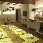Küche und Wohnraum im **** Apartment Morgenrot für bis zu 8 Personen