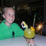 enjoying a childrens cocktail