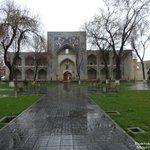 Bukhara, Kukeldash Madrasah on a rainy day