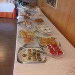 Buffet libre en el desayuno