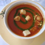 前菜 ガスパチョ 暑いときには冷製スープはうれしい