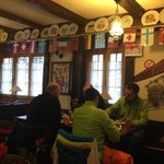The cozy dining/breakfast room
