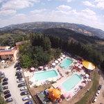 vista panoramica parco piscine