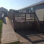 Ramp and deck of accessible vacation home