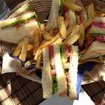 Club sandwich on the beach