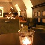 la salle du dernier etage : diner du soir et thé toute la journee
