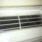 the heater/ac in room with mold!!!   room 100