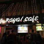 Royal cafe in evening