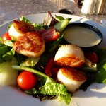 Cape Breton Maple Salad (scallops added)