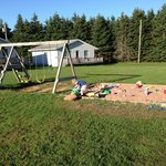 Slide, Swings and Sandbox in front of Cottage 8