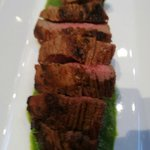 Fillet Steak with Basil sauce