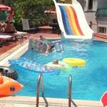 The pool and slide