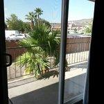 Sliding glass door in King Kitchenette/Suite
