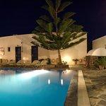 mathios village by night