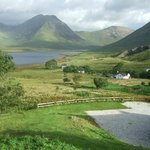 The glorious view of Loch Slappen and Bla Bheinn from our room