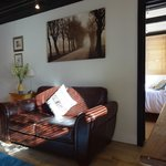Bothy Lounge and Bedroom at our B & B in Hindhead near Grayshott