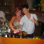 aimee and effi working the bar