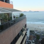 view of Ipanema beach from the roof top