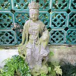 Kwan Yin in walled garden