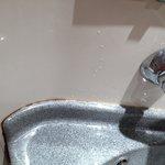 Yello grime around the sink