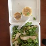 This is the $10 Fiesta Chicken Salad....very sad!