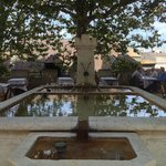 fountain in the open air area