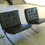 Chairs by Mies van der Rohe in the entrance