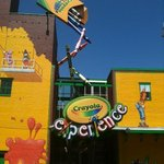 Outside the building of Crayola