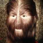 hairy face
