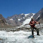 Hiking to glaciers near Santiago city