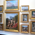 Wall of 19th-century Danish paintings