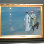 A painting by an artist of the Skagen School: 'Summer Evening on the Beach' (1899)