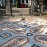 Marble pavement in front of Hirschsprung Collection