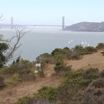 View of Golden Gate Bridge from Angel Island